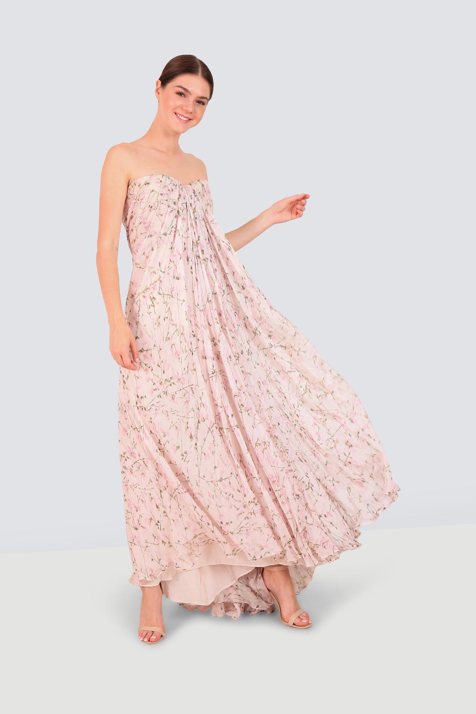 f3af9bfa4fb8 Rent ALEXANDER MCQUEEN Strapless Silk-chiffon Gown in Dubai ...