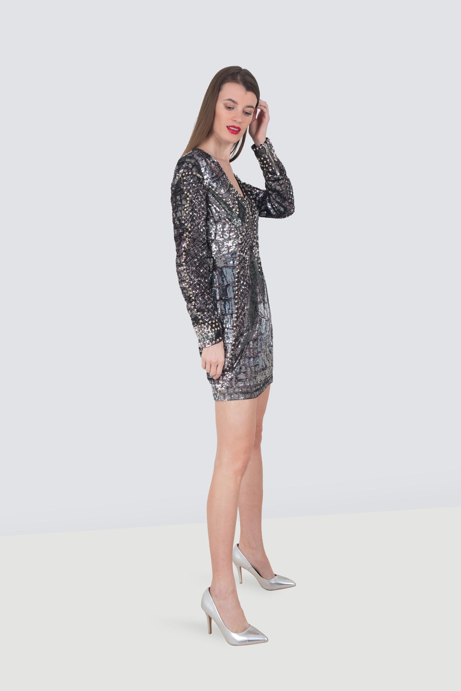 6b9c8ee0 Rent BALMAIN Metallic Cocktail Dress in Dubai - Designer 24
