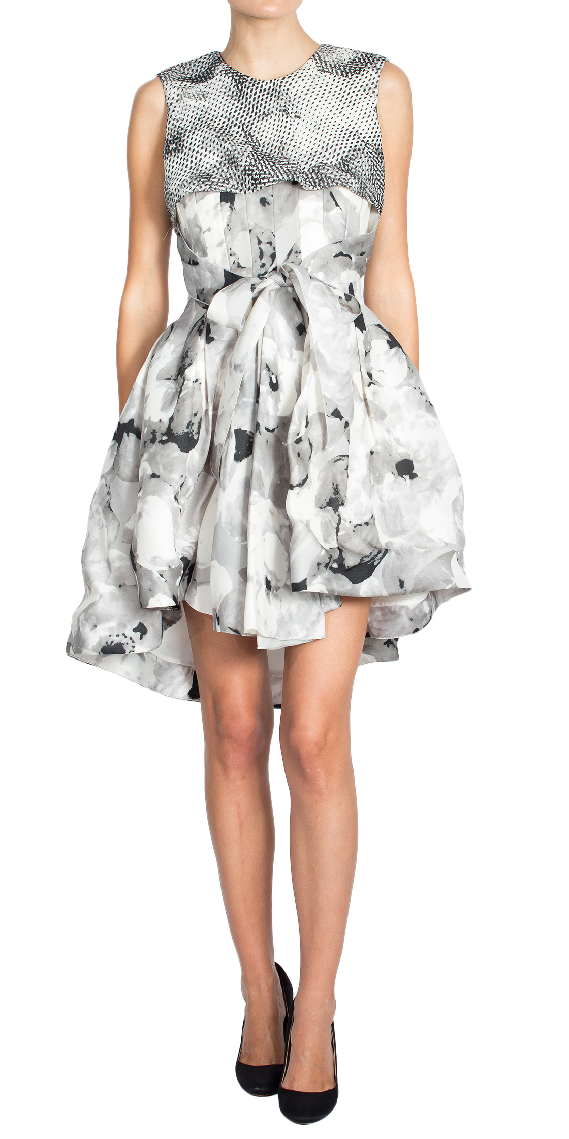 Rent CHRISTIAN DIOR Pleated Print Dress in Dubai