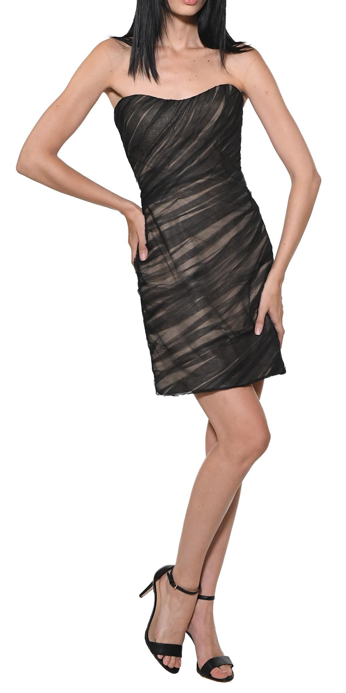 Reem Acra strapless corset sheath dress   Cocktail Dresses Rental ...