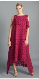 Al Jawhara Lace Ruffled Dress