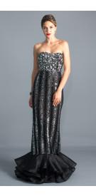 Maison Beaded Mermaid Gown