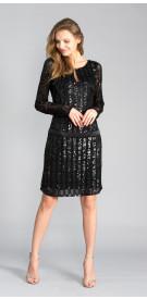 JS Collection Long Sleeve Mini Dress