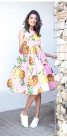 Dolce Gabbana Pineapple Print Dress