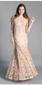 Temperley Cutout Lace Gown