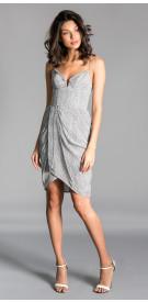 Zimmerman Metallic Wrap Dress