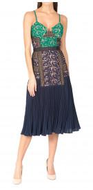 Self-Portrait Lace Pleated Dress