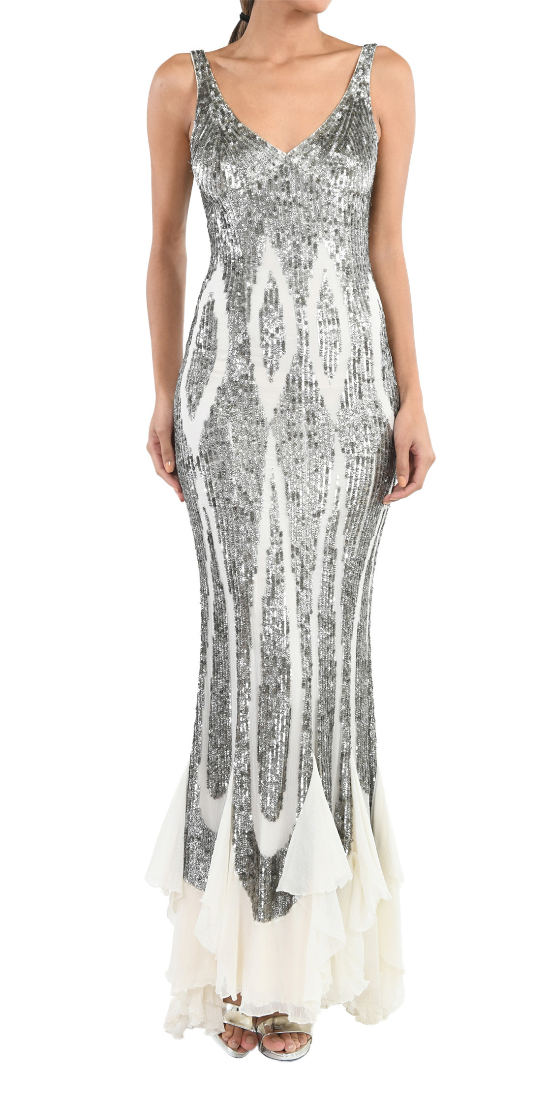 Elie Saab Ruffled Sequin Gown   Designer Dress Rental   Lebanon Rent ...