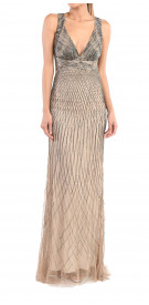 Roberto Cavalli Metallic Backless Gown