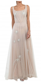 Sandra Mansour Starry Tulle Gown