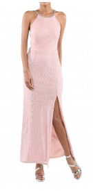 Private Collection Jewelled Lace Gown