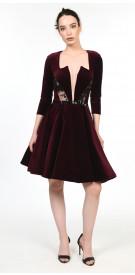 Antoine El Kareh Velvet Dress