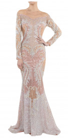 Nicolas Jebran Sequined Mermaid Gown