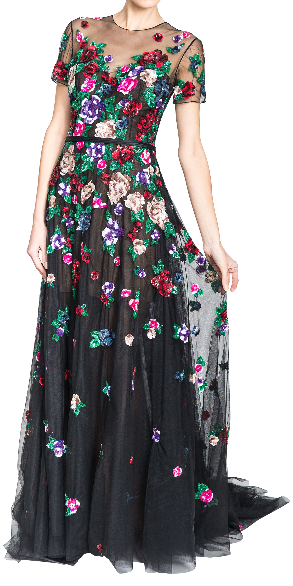 Rent ZUHAIR MURAD Floral Embellished Sequin Gown in Lebanon ...