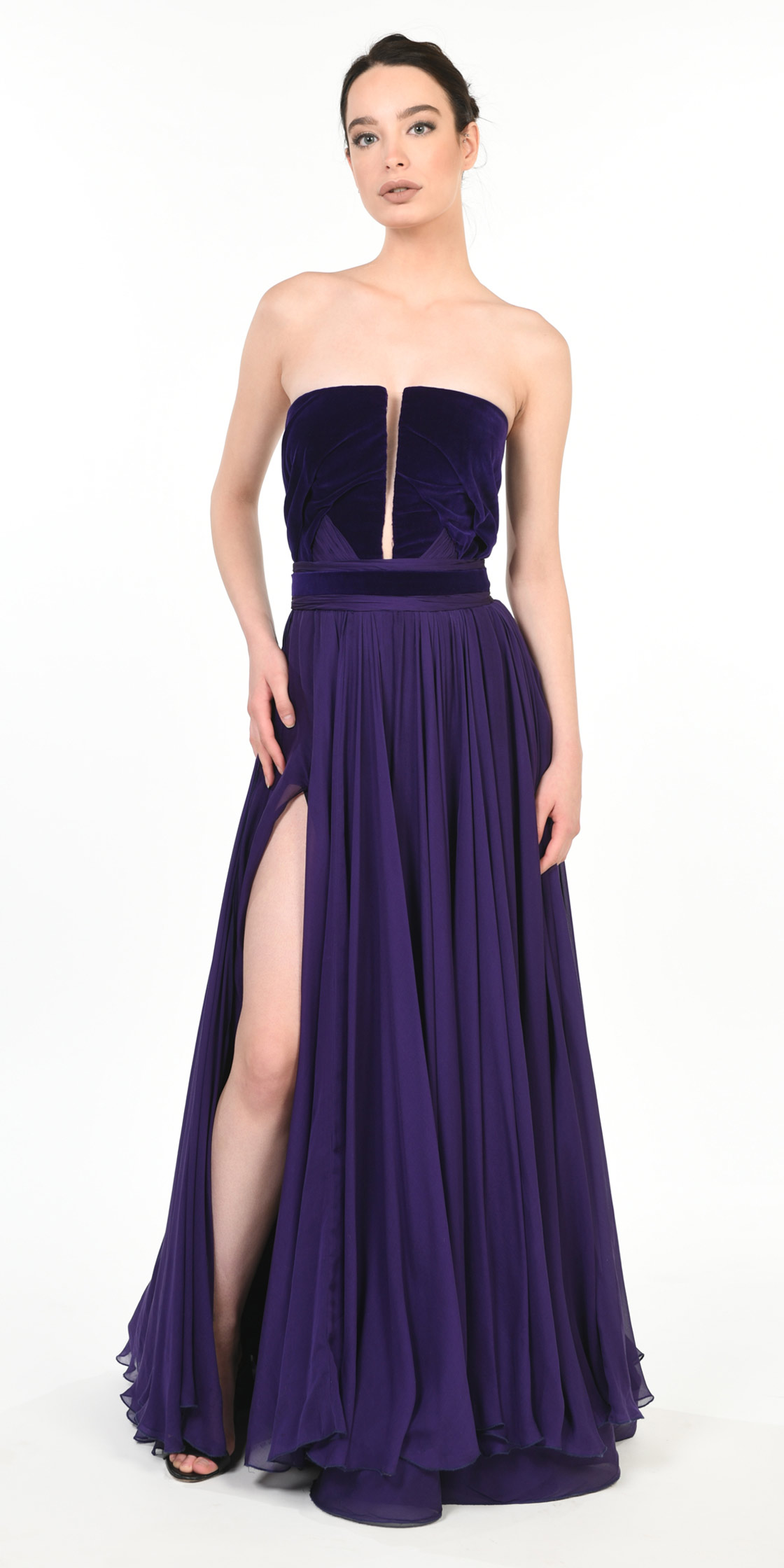 Rent ANTOINE EL KAREH Strapless Plunge Neckline Gown Sold in ... 0435150ce