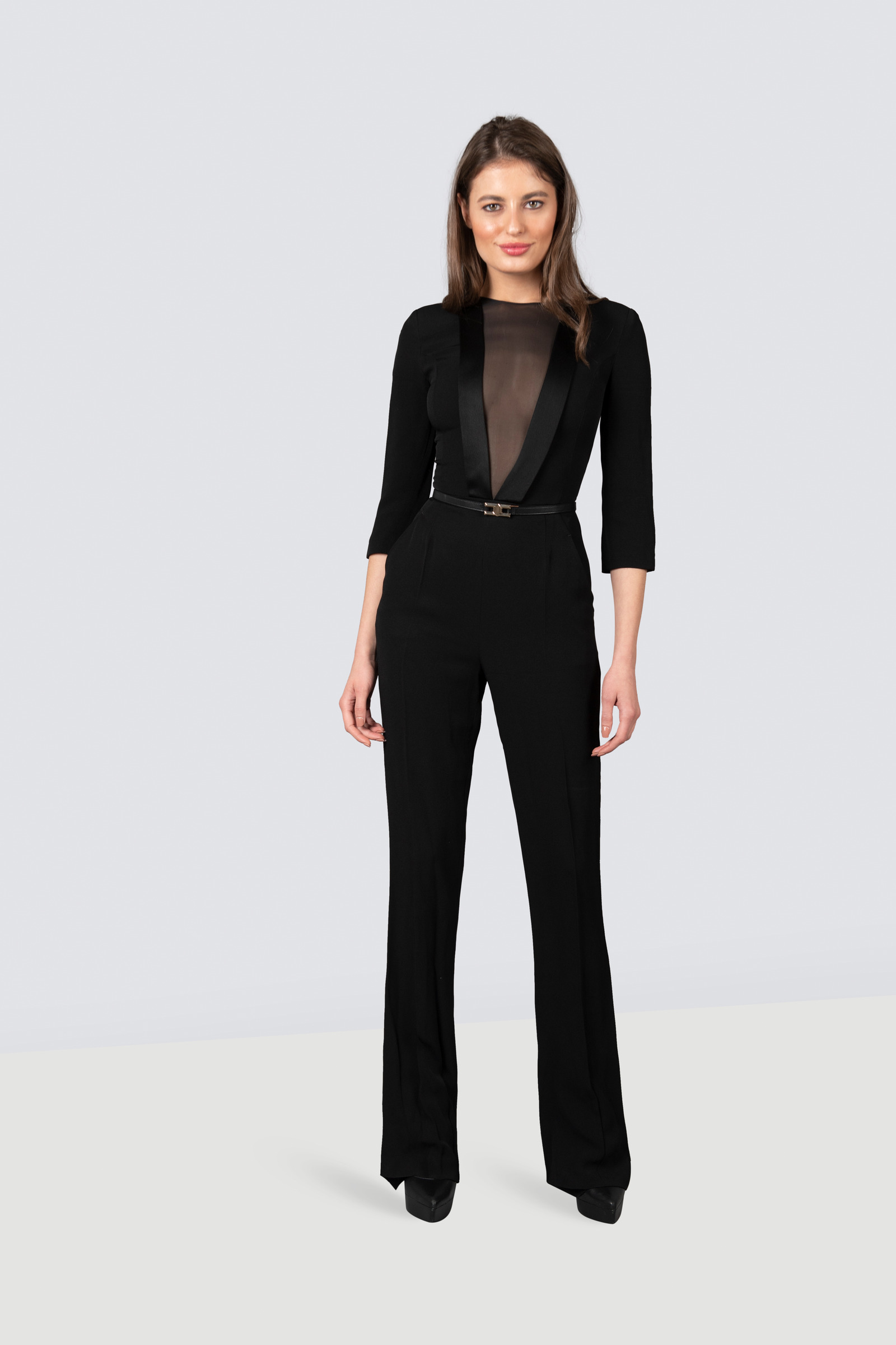 pretty nice 39700 214b2 Rent ELISABETTA FRANCHI Fitted jumpsuit with 3/4 sleeves and ...