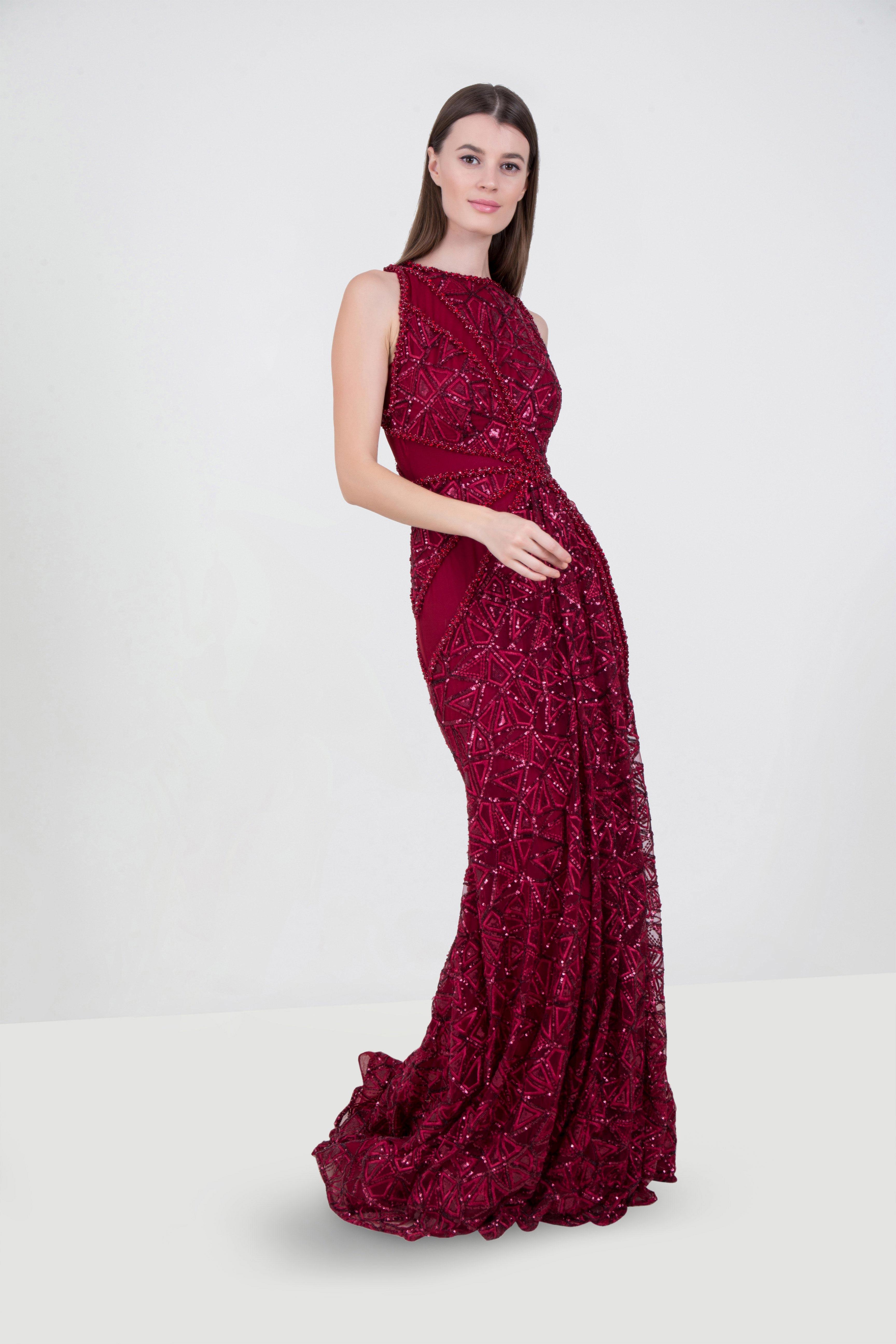 5d6b25ac3b04 Rent MAISON ELEGANCE Embellished Evening Gown in Dubai - Designer 24
