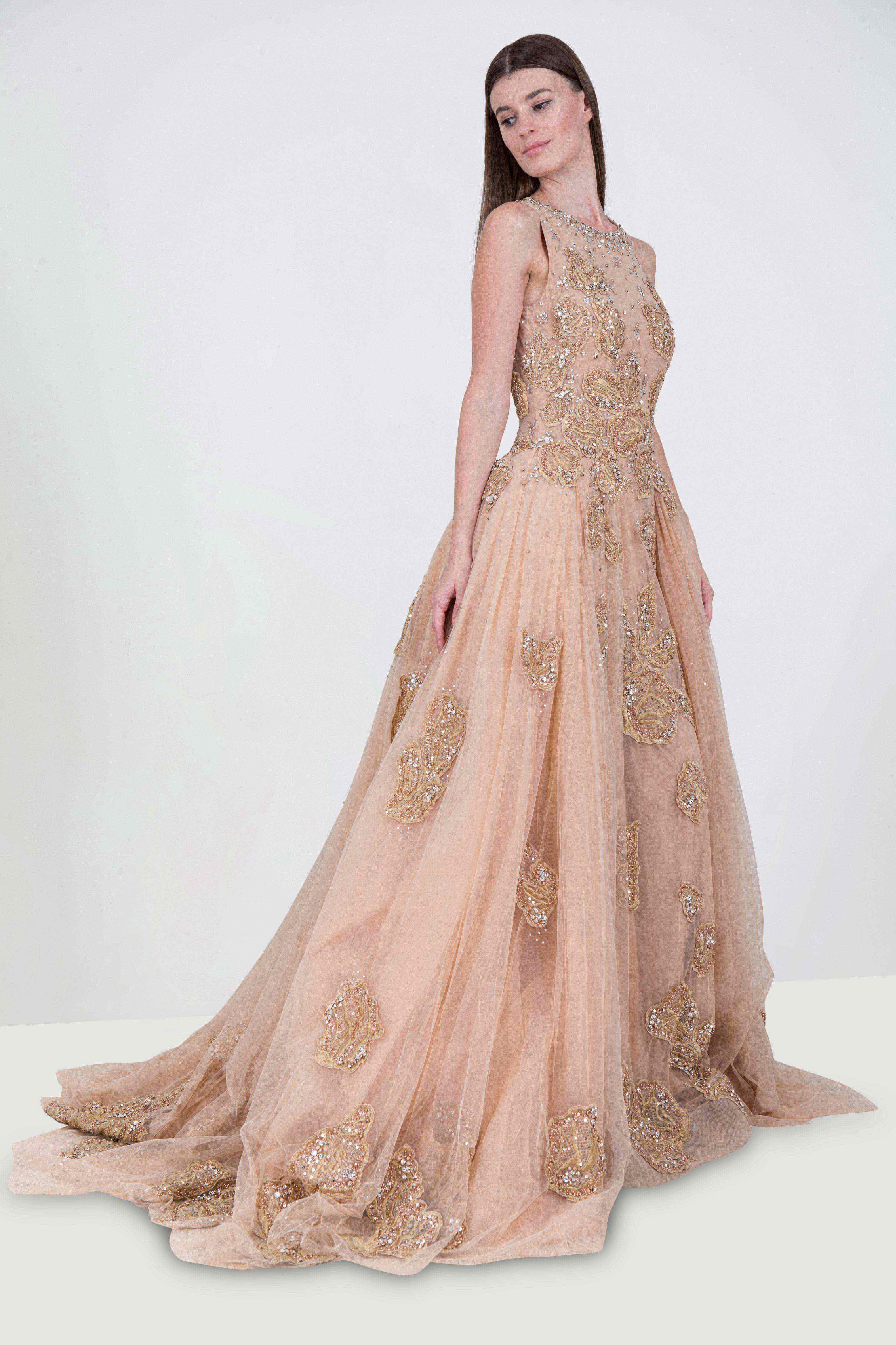 8966b8fe461f Rent MAISON ELEGANCE HAUTE COUTURE Sleeveless Embellished Princess ...