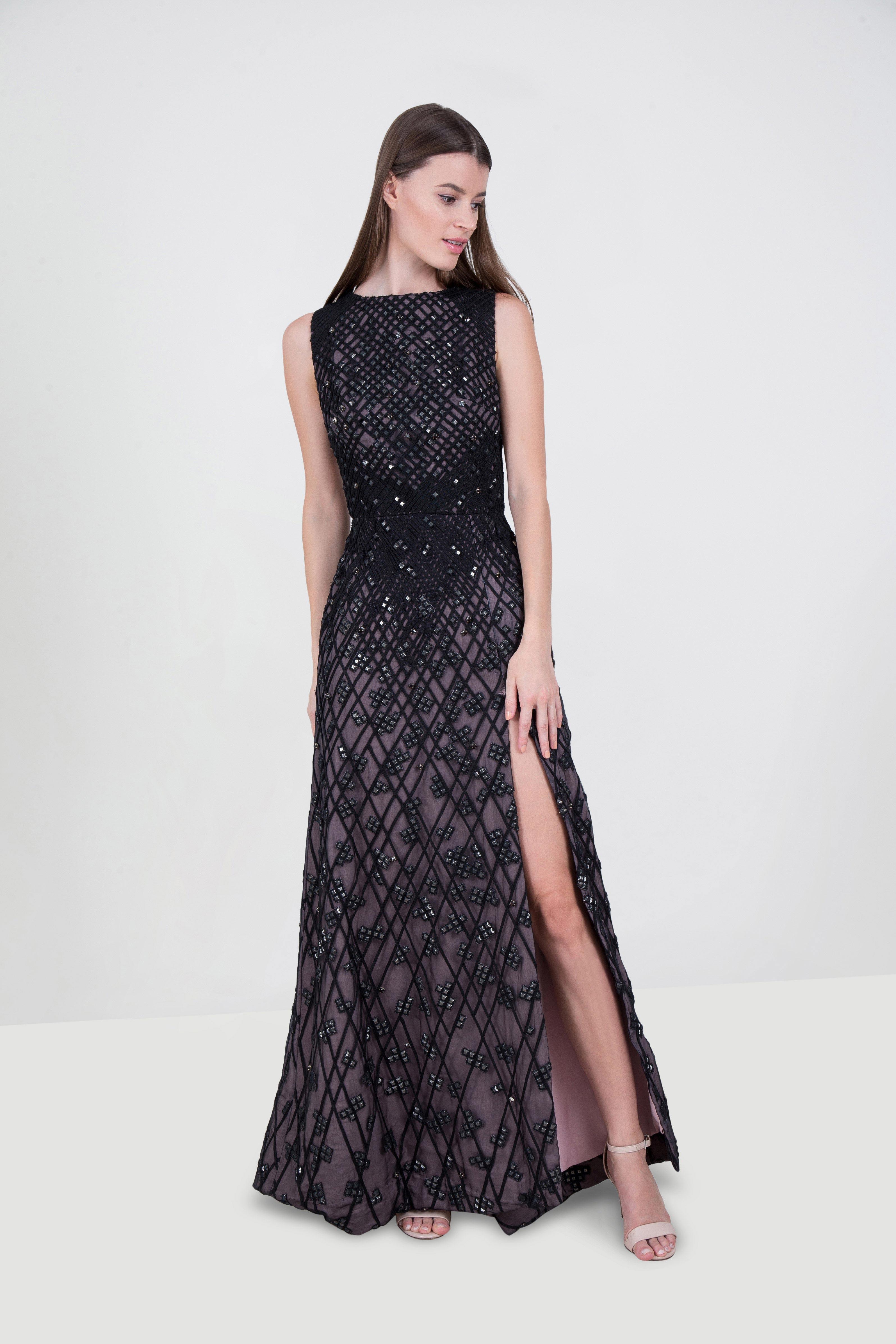 7abb33e8dd16 Rent ELIE AWAD Sleeveless Embellished Gown in Dubai - Designer 24