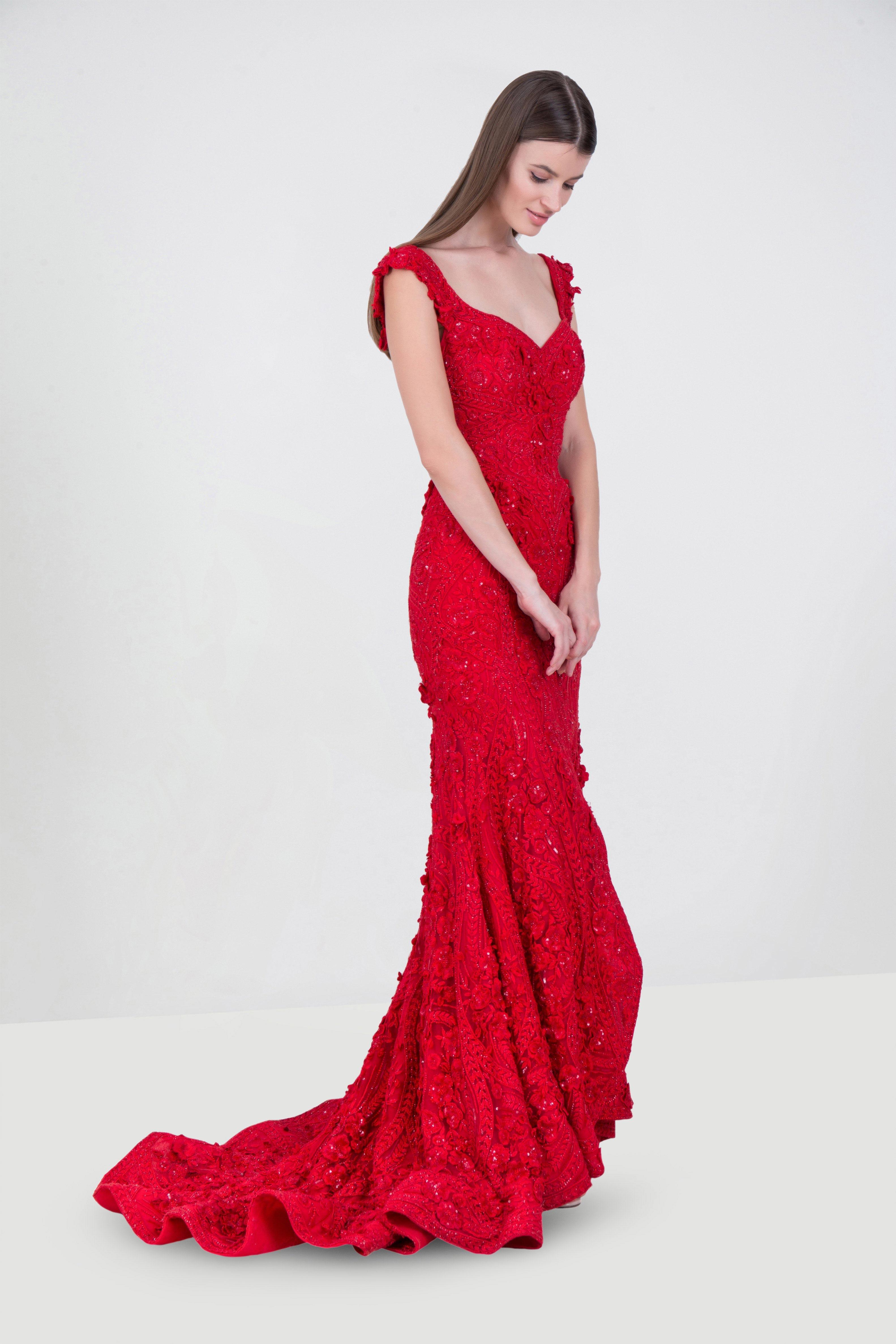 4814e71e4202 Rent MAISON ELEGANCE Off The Shoulder Embellished Gown in Dubai ...