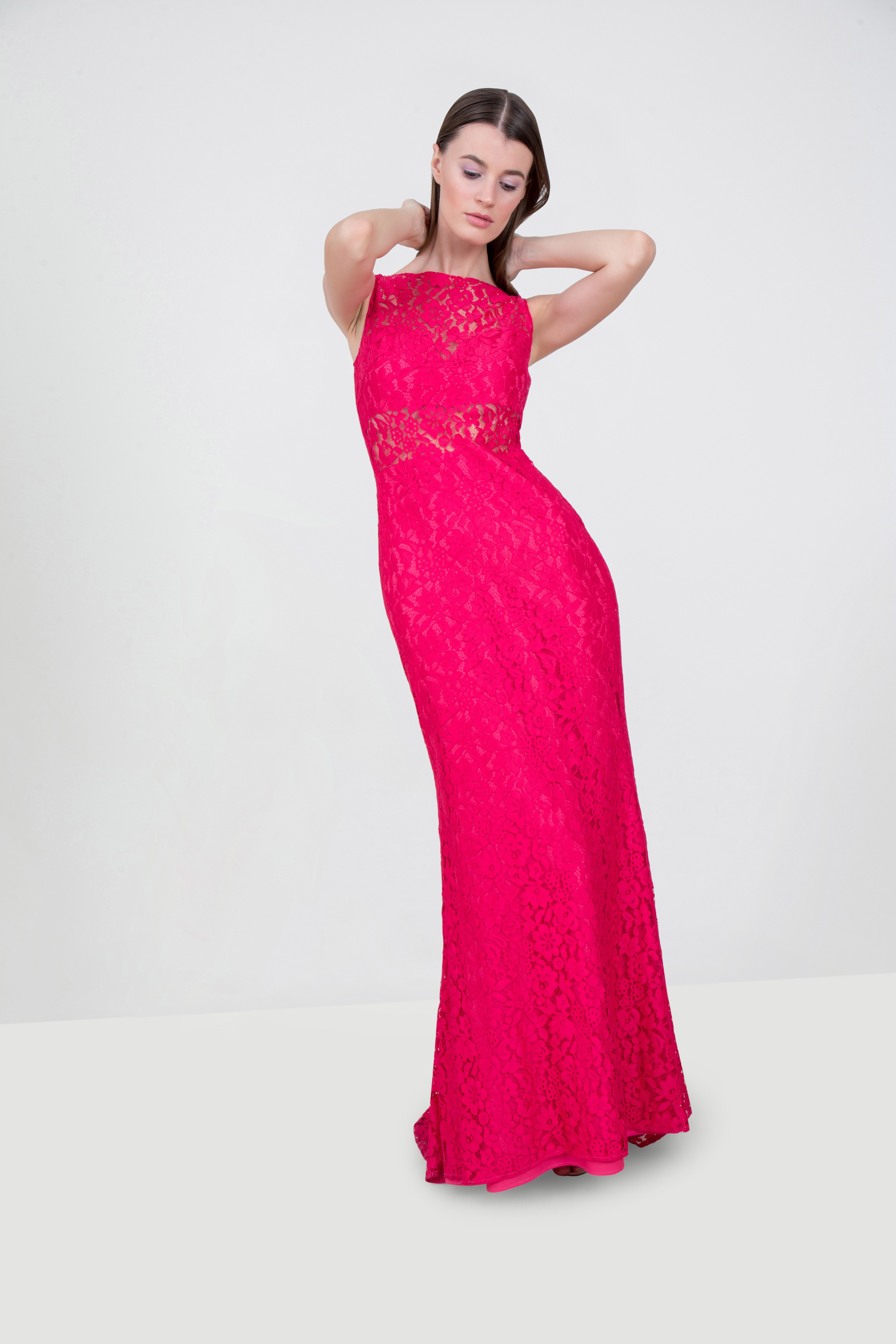 2ea47ce57254 Rent PRONOVIAS Sleeveless Lace Gown in Dubai - Designer 24