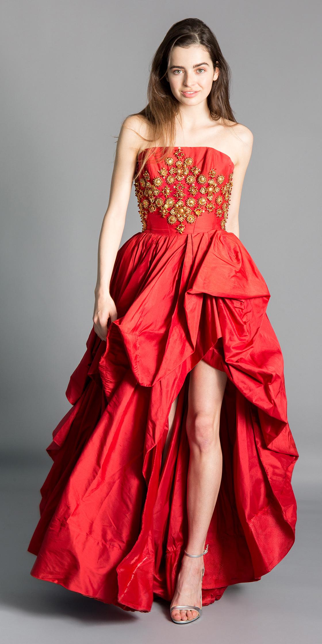 88b1aad0ed62 Rent RAMI KADI Strapless Beaded Gown in Dubai - Designer 24