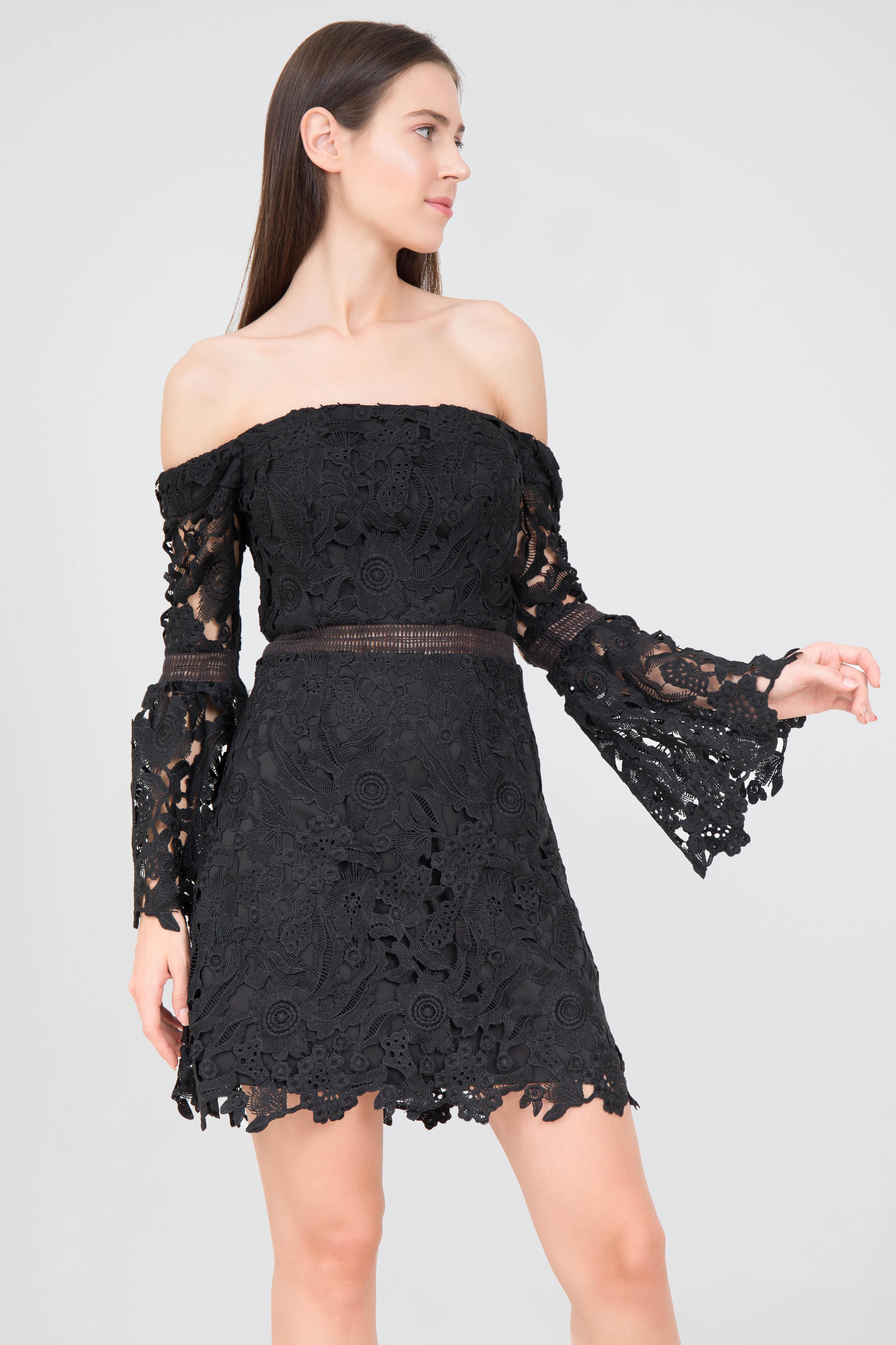 230c4f7732 Rent CYNTHIA ROWLEY Off The Shoulder Lace Mini in Dubai - Designer 24