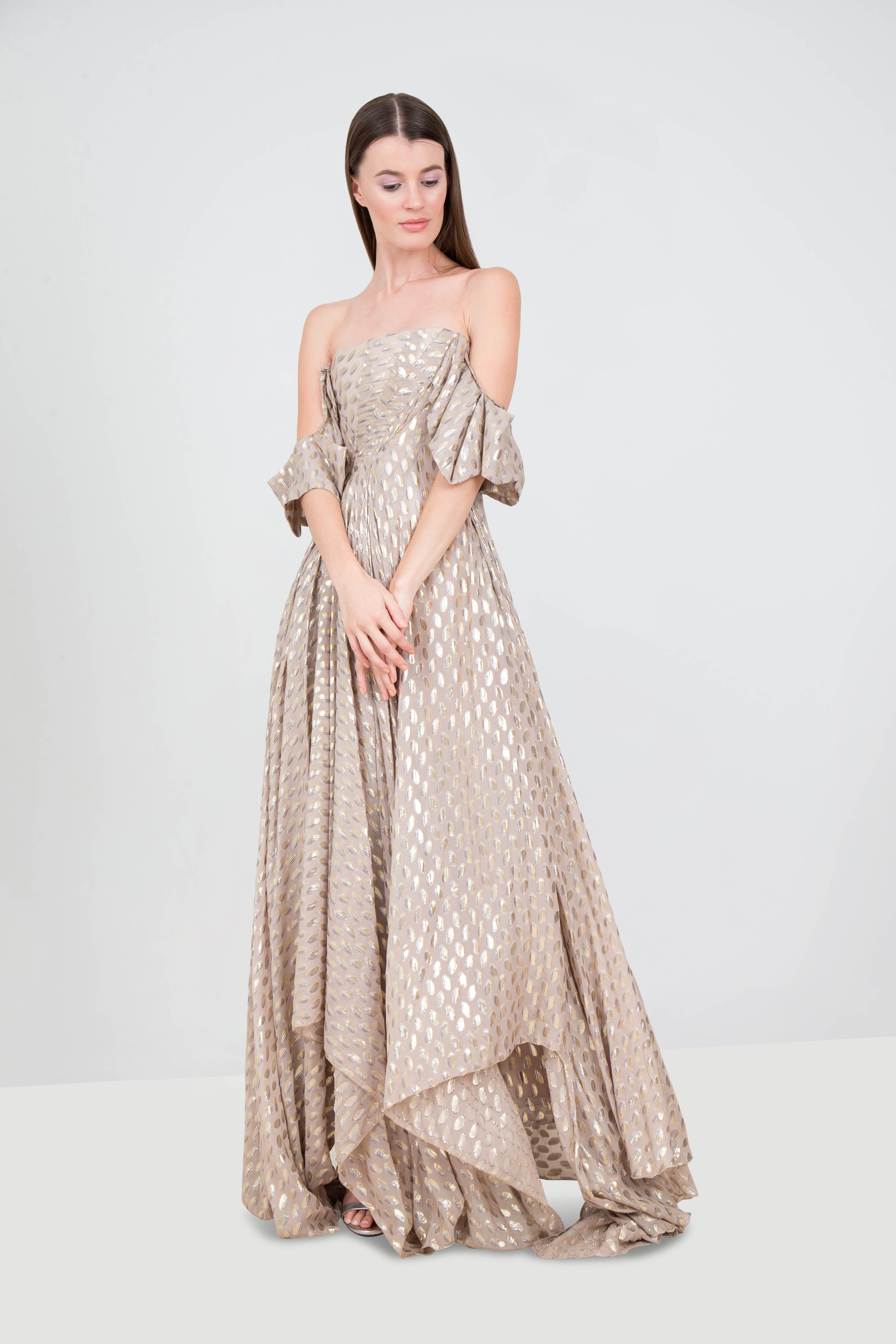 bd80ab1b2f19 Rent RAMI KADI Off-the-shoulder Metallic Gown in Dubai - Designer 24