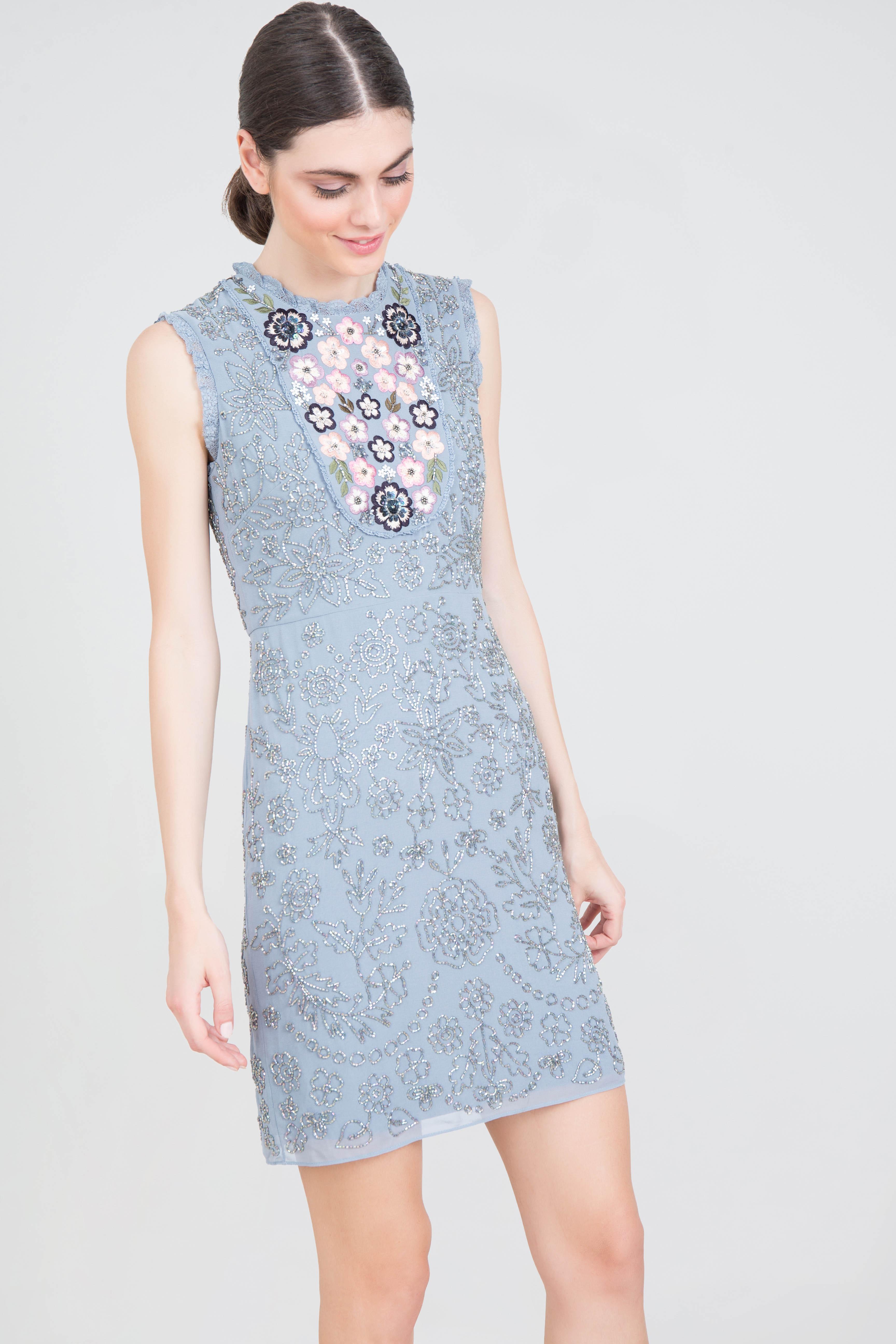 3b3b9b61 Rent NEEDLE & THREAD Folk Bib A-line Dress in Dubai - Designer 24