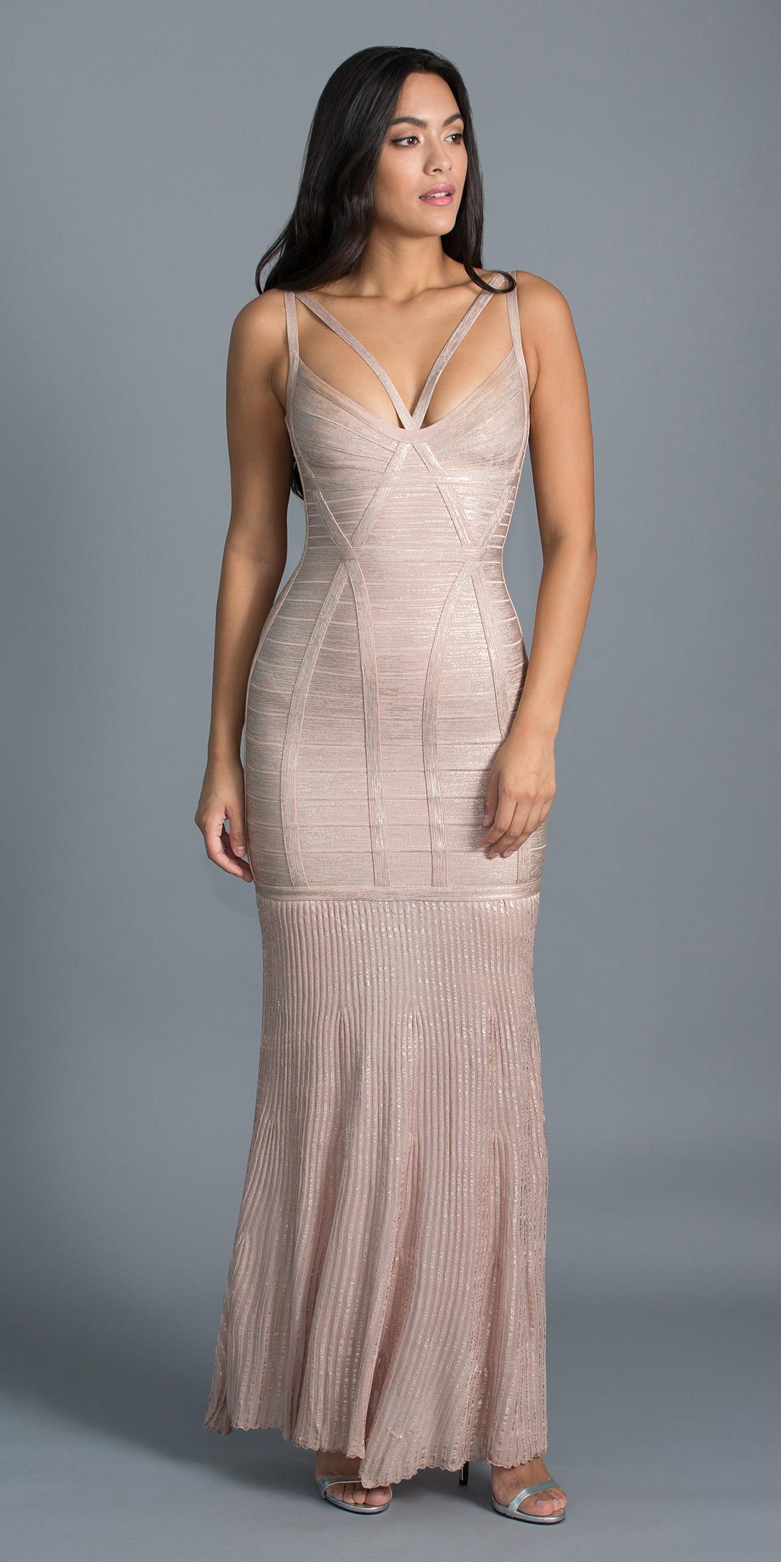 Rent HERVÉ LÉGER Cutout Bandage Dress in Dubai - Designer 24