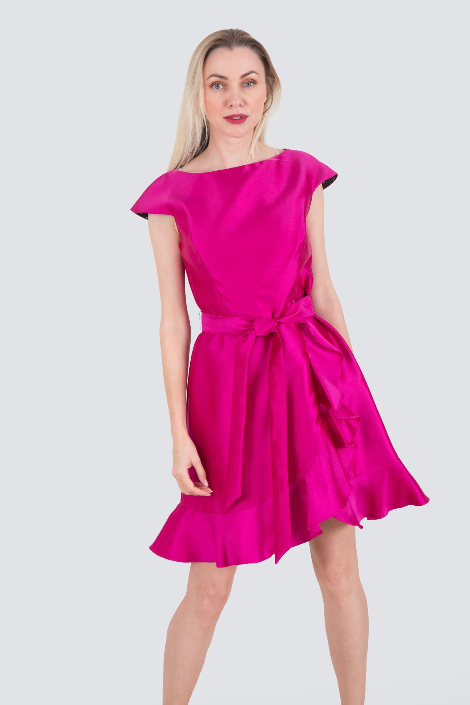 1d6be4dbd0f2 Rent ISAAC MIZRAHI Asymmetric Ruffle Silk Dress in Dubai - Designer 24