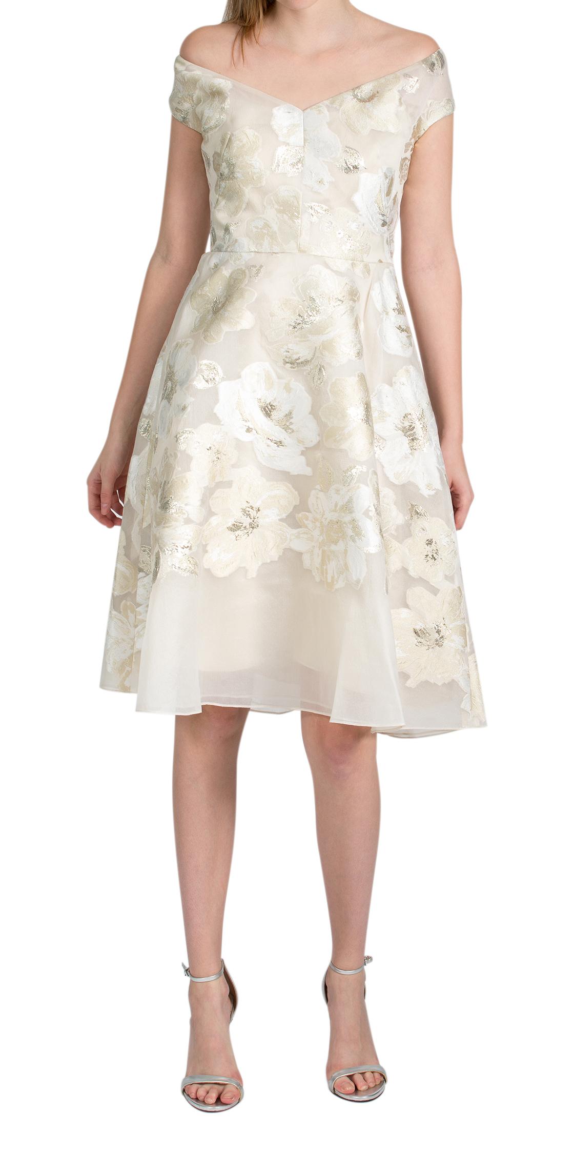 ce1f4ea3 Rent LELA ROSE Floral Full Skirt Wide V-neck Dress in Dubai ...