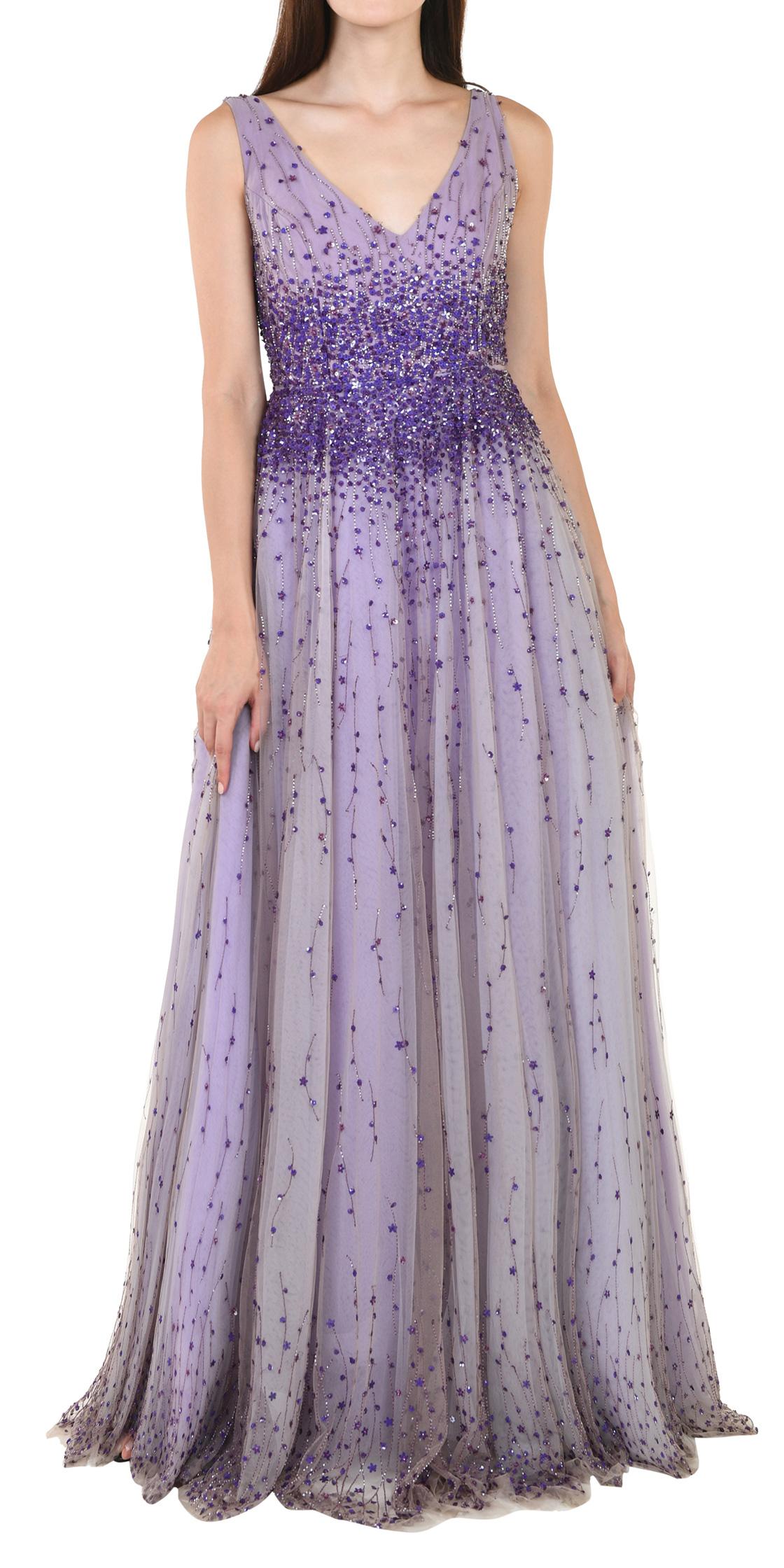 Rent MONIQUE LHUILLIER V-neck Ball Gown in Dubai - Designer 24