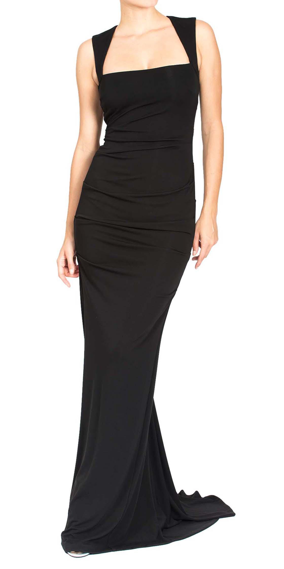 Rent NICOLE MILLER Felicity Jersey Gown in Dubai - Designer 24