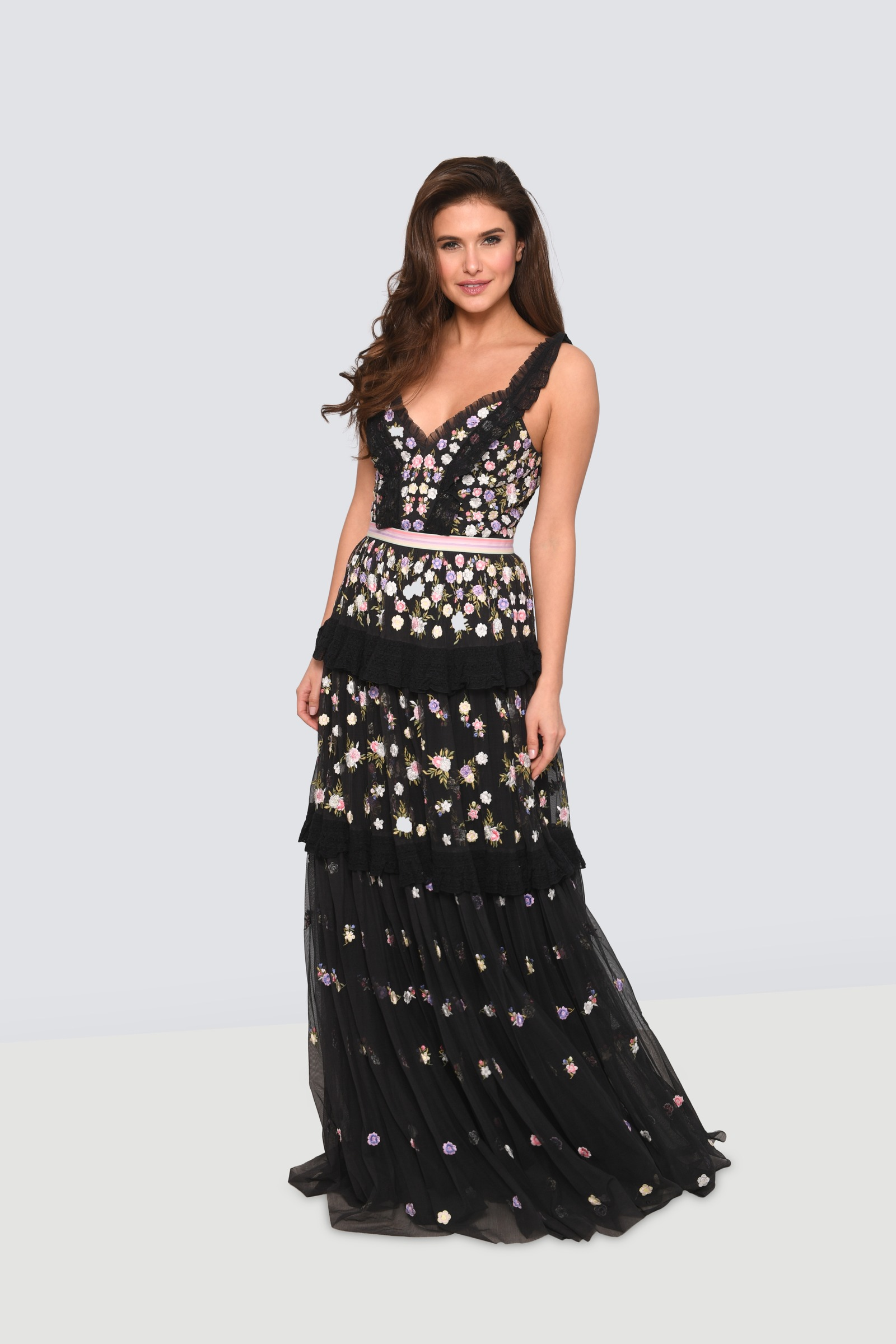 beac5085e4eca Rent NEEDLE & THREAD Ruffled Embroidered Tulle Gown in Lebanon ...