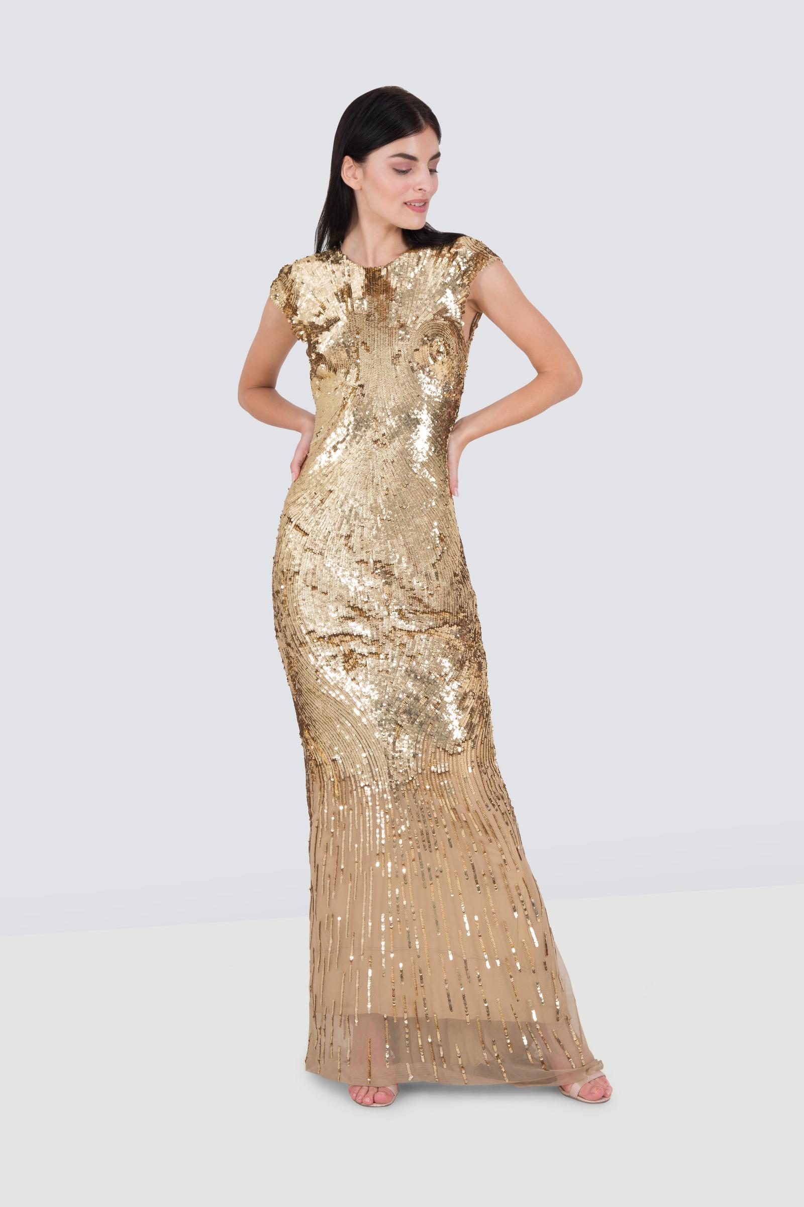 Rent Reem Acra Sequin Sheath Gown In Jordan Designer 24