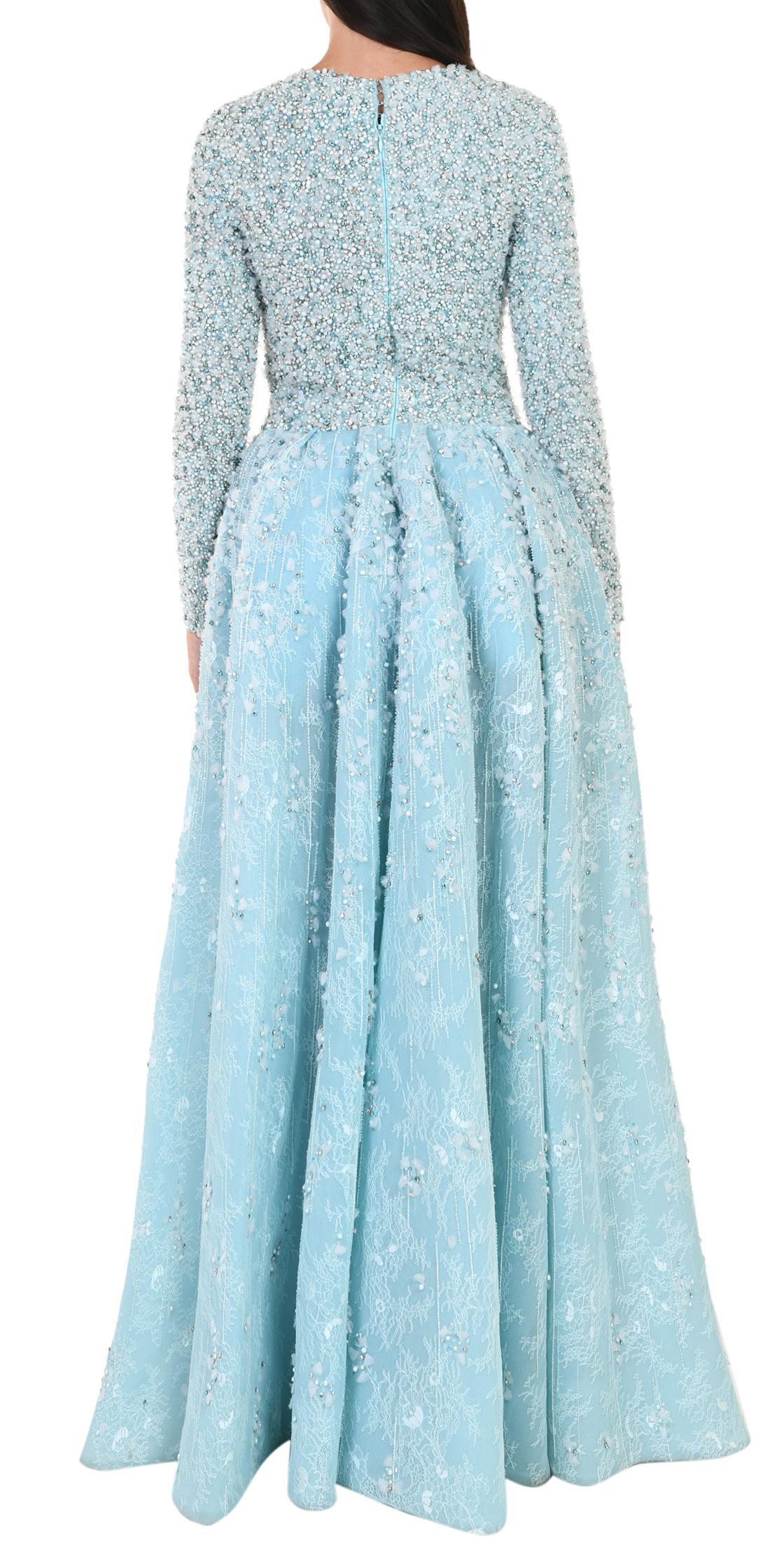 3c4b5b6b503 Rent SAIID KOBEISY Pleated Long Sleeve Gown in Lebanon ...