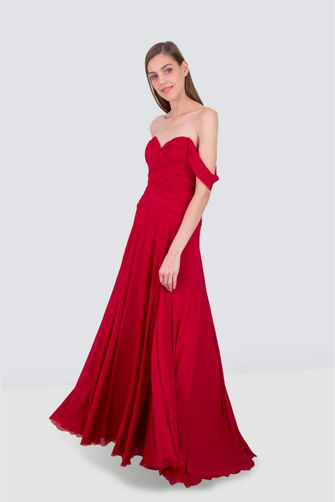 TERRANI One Shoulder Sequined Gown