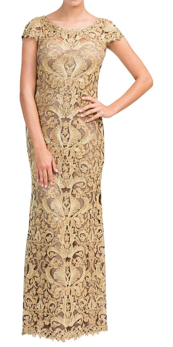 Rent TADASHI SHOJI Textured-brocade Gown in Dubai - Designer 24