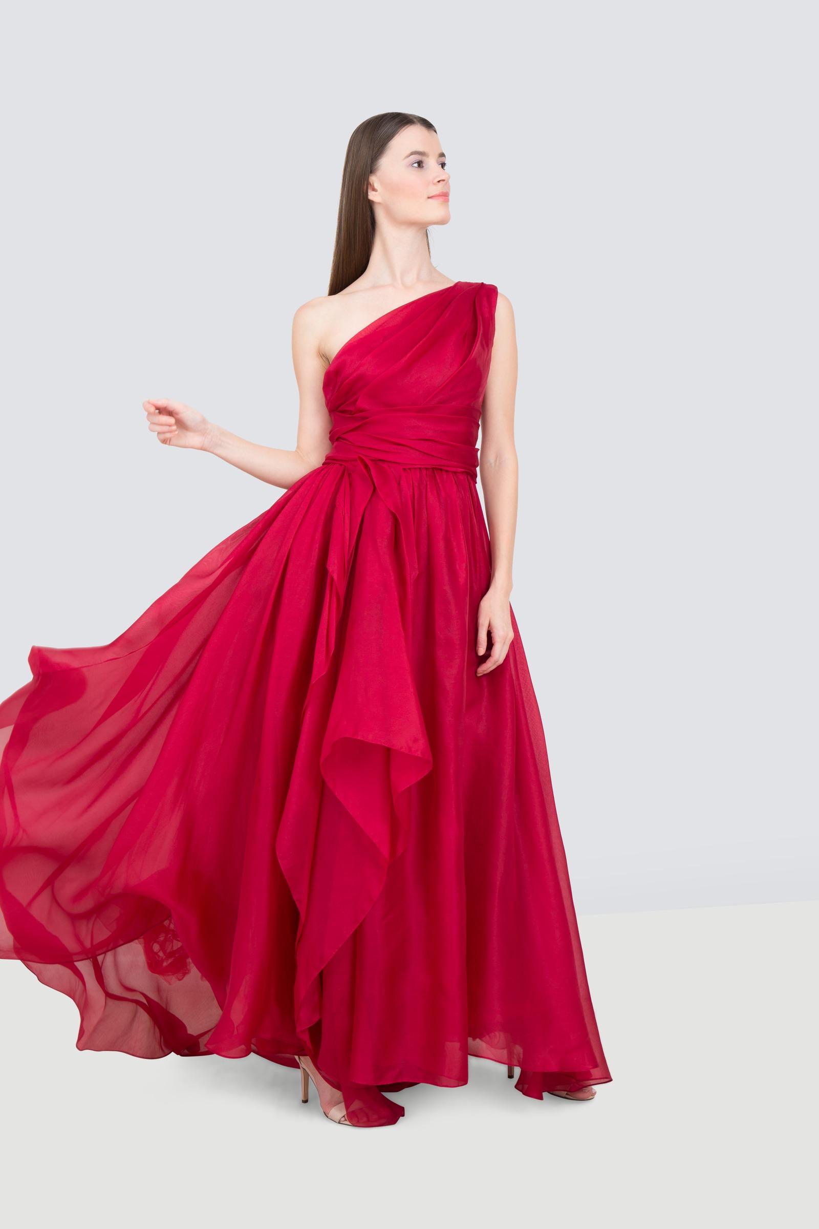 bb05d2851088 Rent MARCHESA One Shoulder Silk Ball Gown in Dubai - Designer 24
