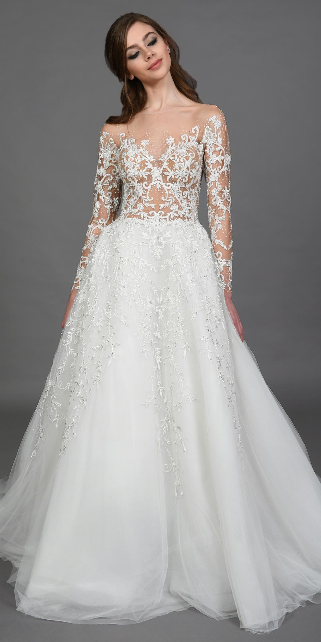 Rent ZUHAIR MURAD Long Sleeve A-line Gown in Lebanon - Designer 24