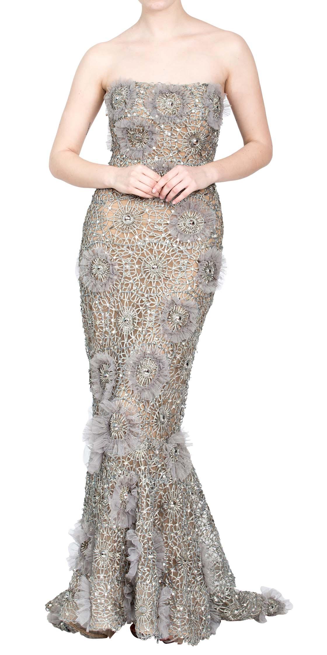 3b226607caab Rent ZUHAIR MURAD Strapless Sequined Gown in Dubai - Designer 24